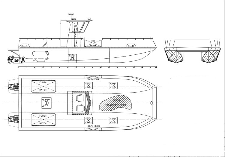 10m Line Work Harbour Boat