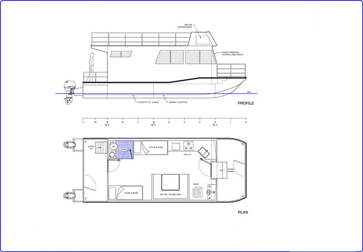 9m Houseboat