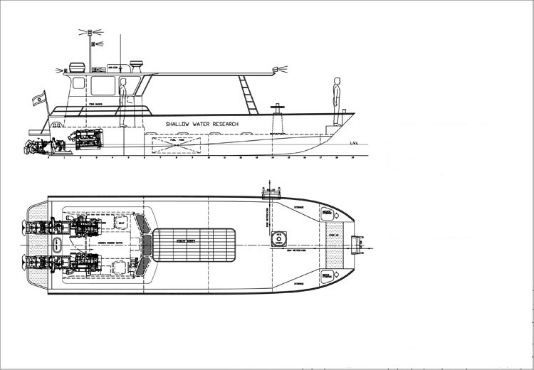11.5m Seismic Cable Laying Boat