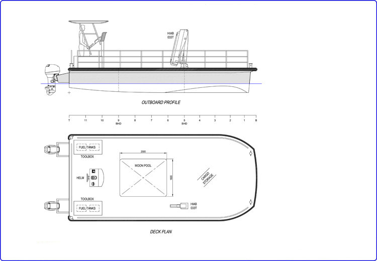 8m Pontoon Catamaran